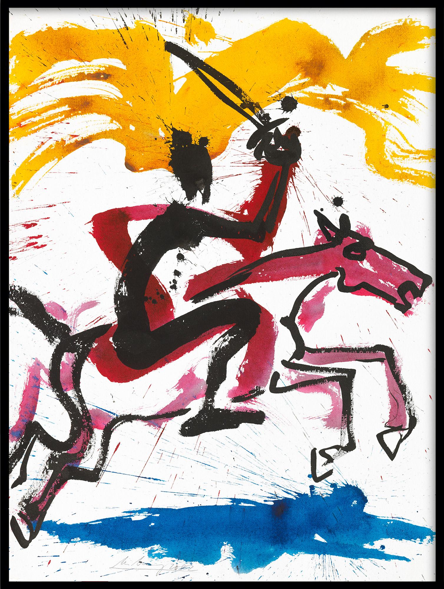 """Bild """"Apokalyptischer Reiter I (Z 02 001)"""" (2002) (Unikat)"""
