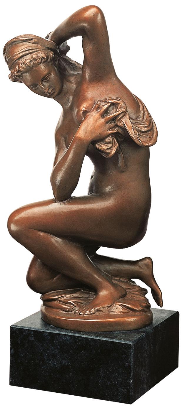 """Skulptur """"Venus nach dem Bade"""", Kunstbronze"""