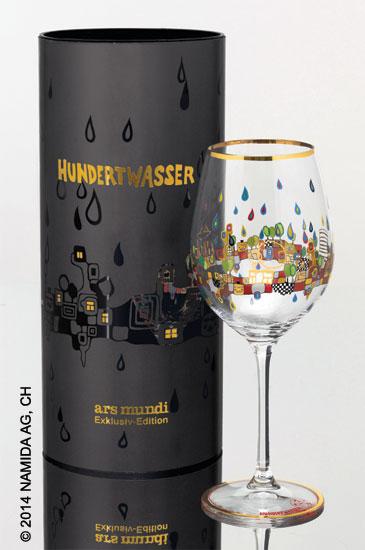 "(PM XIX/4) Weinglas ""BEAUTY IS A PANACEA - Gold - Rotwein"""