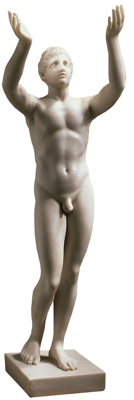 "Statue ""Betender Ephebe"" (Reduktion), Version in Kunstmarmor"