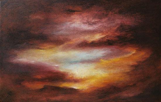 "Bild ""Nightfall"" (2008) (Original / Unikat), auf Keilrahmen"