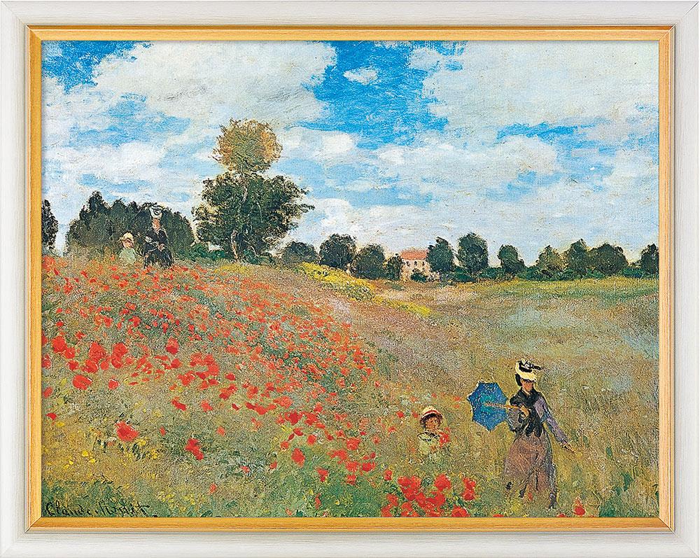 """Bild """"Les coquelicots à Argenteuil (Das Mohnfeld bei Argenteuil)"""" (1873), gerahmt"""