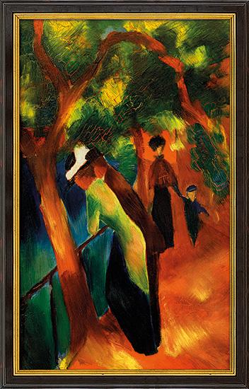 "Bild ""Sonniger Weg"" (1913), gerahmt"