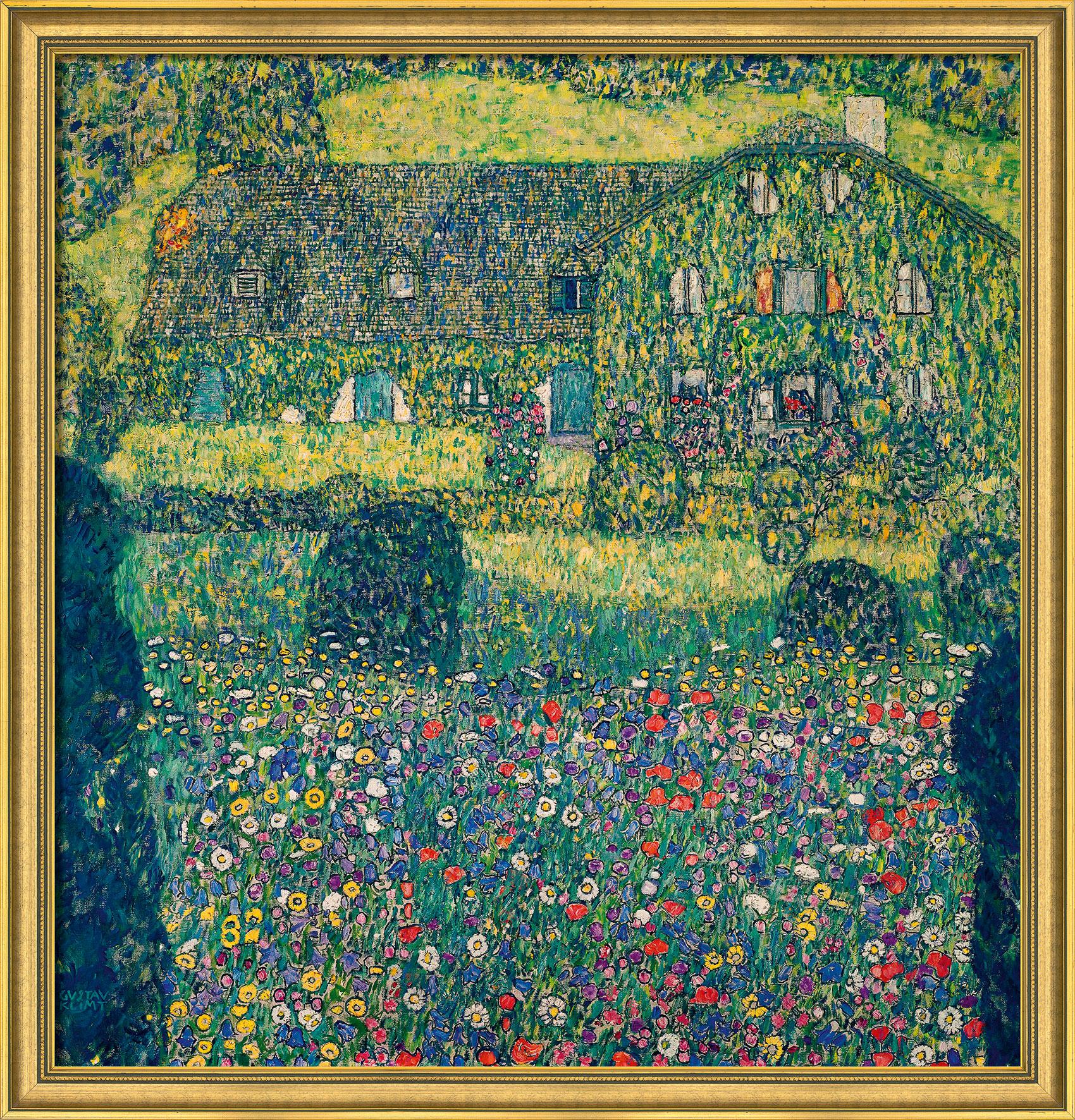 "Bild ""Landhaus am Attersee"" (1914), gerahmt"