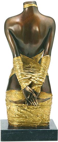 """Skulptur """"Draperie II"""", Version in Bronze teilvergoldet"""