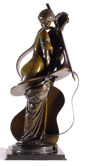 """Skulptur """"Cellopige"""" (1992), Bronze"""