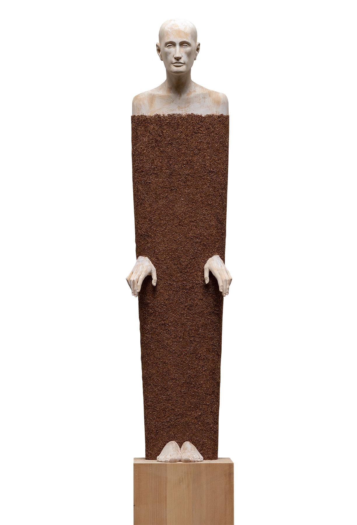 "Skulptur ""Travel Outside"" (Original / Unikat), Holz"