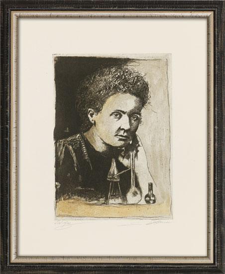 """Bild """"Marie Curie"""", gerahmt"""