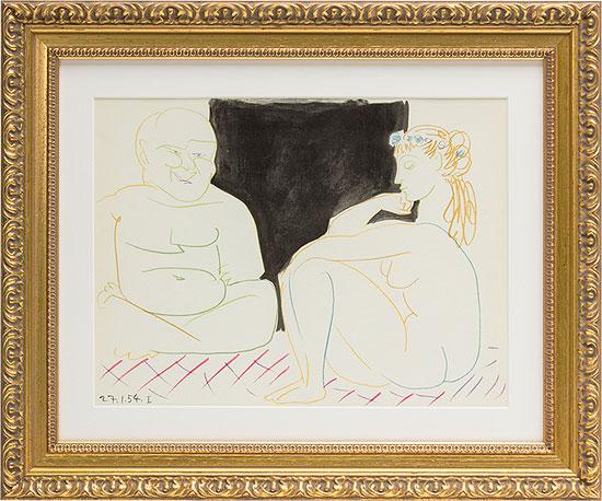 """Bild """"Mann und Modell"""" (1954), gerahmt"""