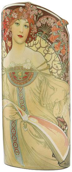 """Keramikvase """"F. Champenois Imprimeur-Éditeur"""" (1897)"""