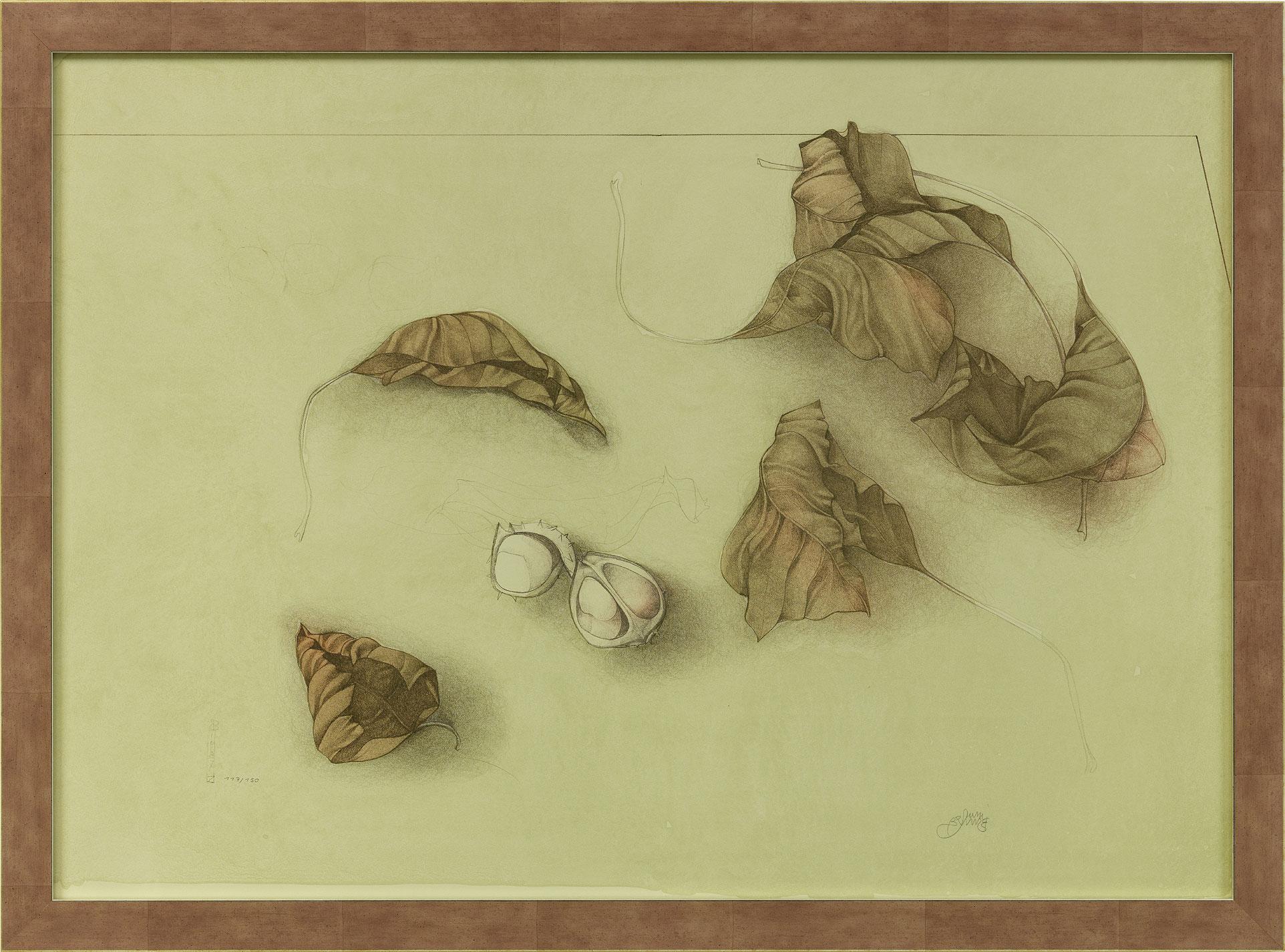 "Bild ""Autunno I (Herbstlaub I)"" (1987), gerahmt"