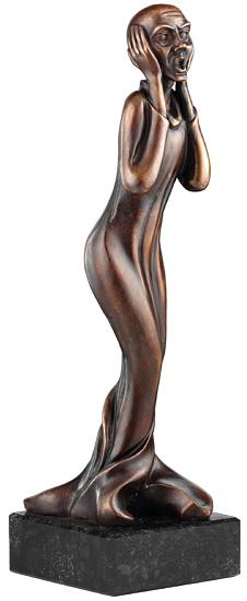 """Skulptur """"Der Schrei"""" - nach Edvard Munch"""