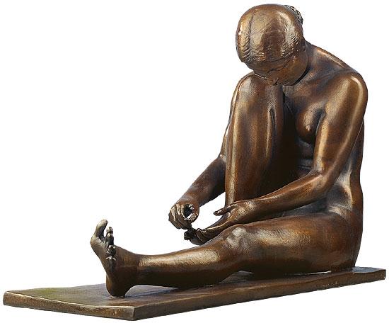 """Skulptur """"Badende"""", Kunstbronze"""