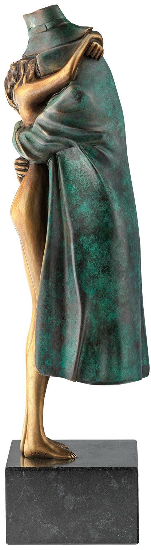 """Skulptur """"Amore"""", Version Bronze grün"""