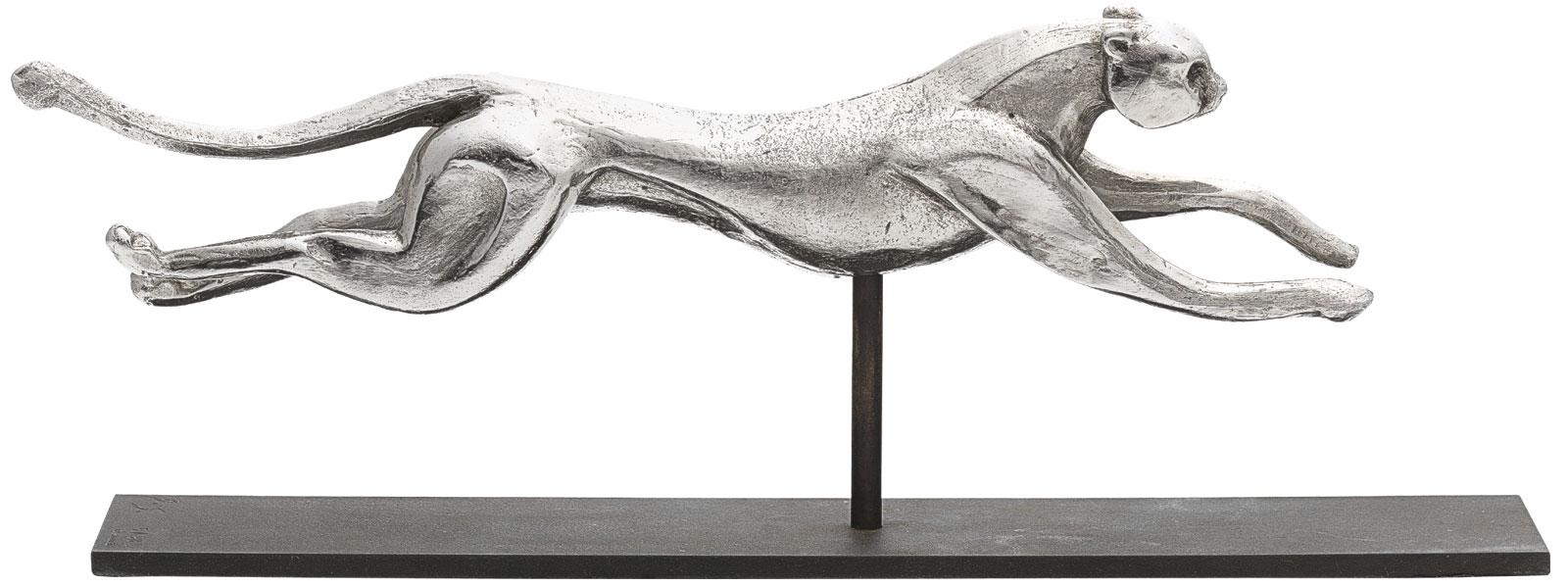 "Skulptur ""Gepard"", Metallguss versilbert"