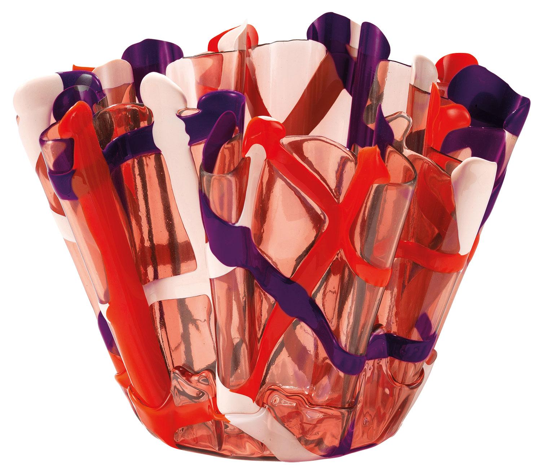 """Vase """"Tartan pink"""", Silikon"""