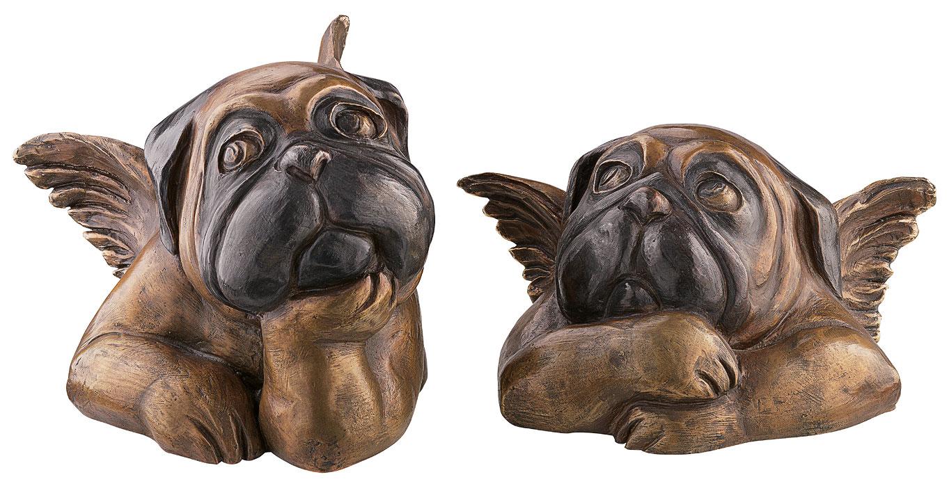 """Skulpturenset """"Sixtinische Möpse"""", Version in Bronze"""
