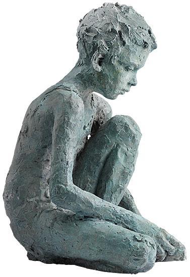 """Skulptur """"Finn"""", Bronze"""