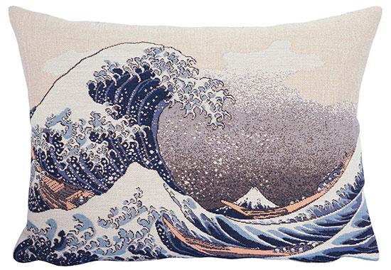 """Kissenhülle """"Die große Welle vor Kanagawa"""" (1830)"""