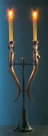 """Doppel-Leuchter"", Bronze"