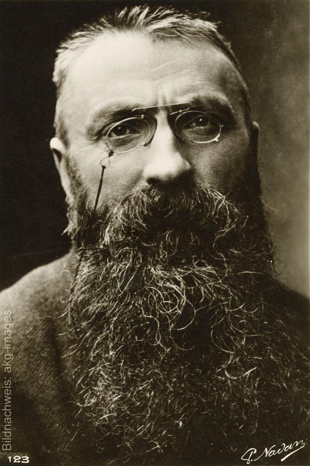 Porträt des Künstlers Auguste Rodin