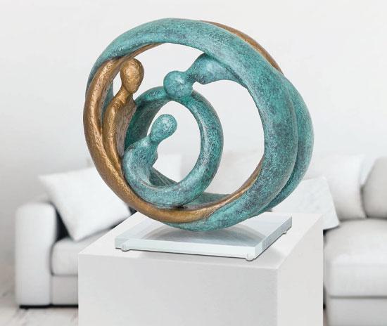 """Skulptur """"Family II"""", Bronze"""