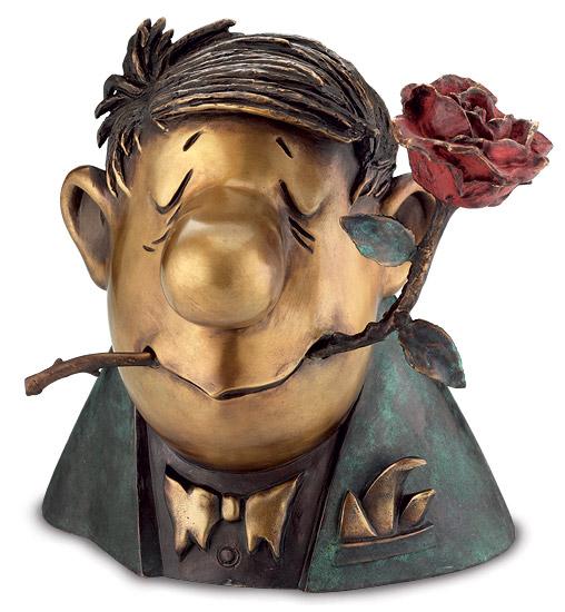 """Skulptur """"Der Rosenkavalier"""", Bronze"""