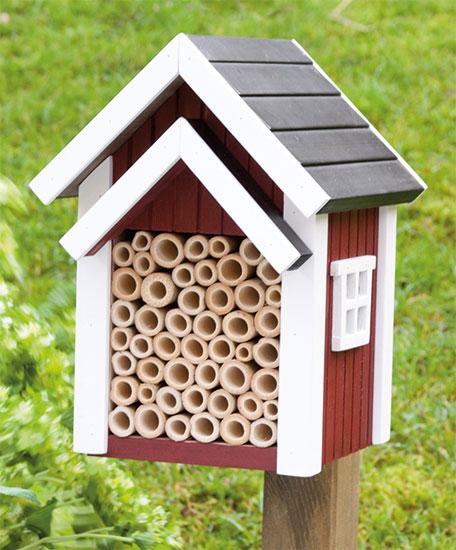 """Bienenhotel """"Blühender Garten"""" aus Holz, bunt"""