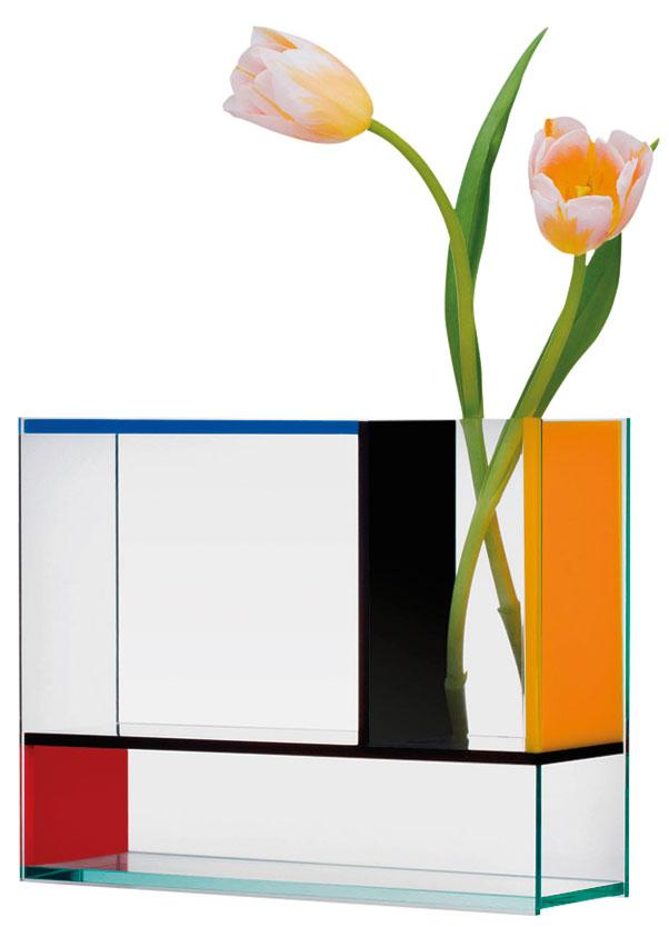 "Vase ""Piet Mondrian"" (ohne Inhalt) - MoMA Kollektion"