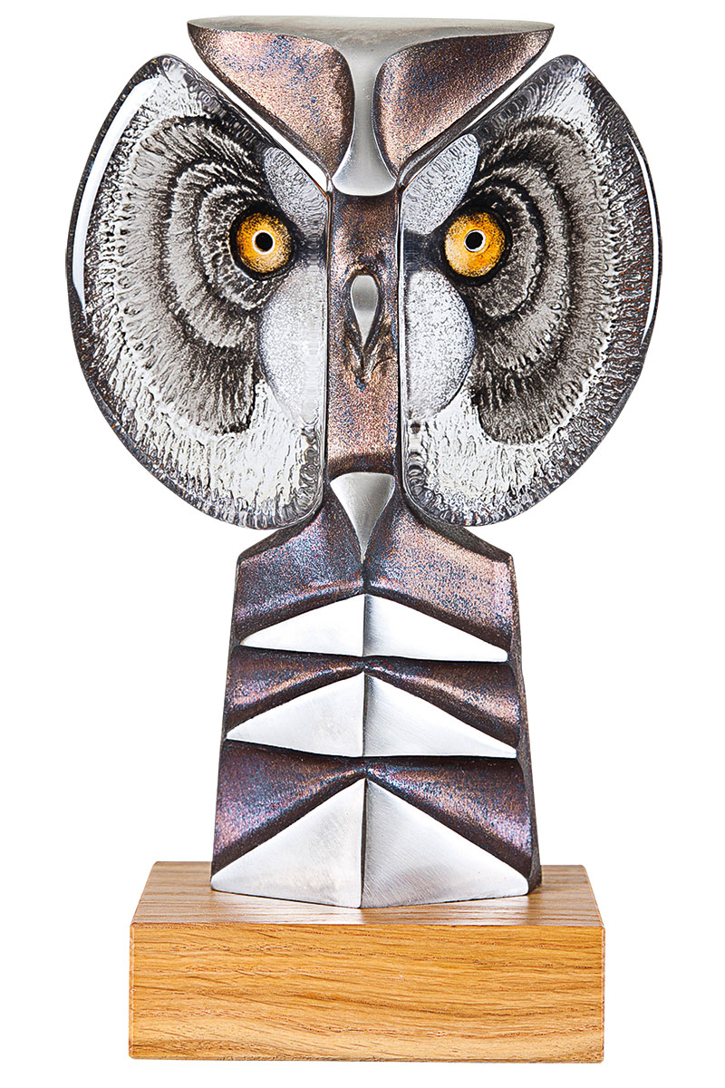 "Glasskulptur ""Strix II"""