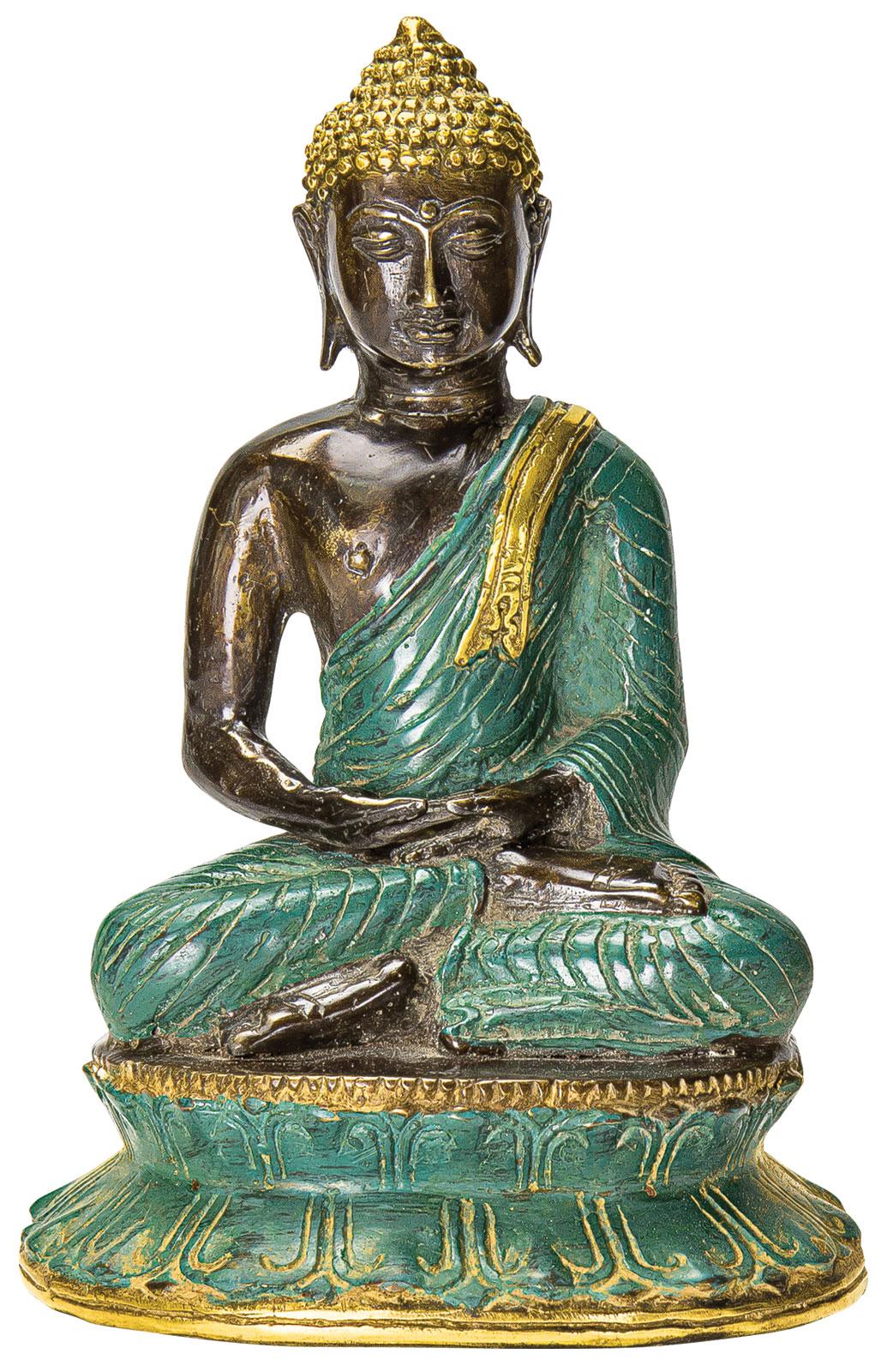 """Deko-Figur """"Japanischer Buddha"""" aus Steinguss, grau (Kopie) Ars Mundi"""