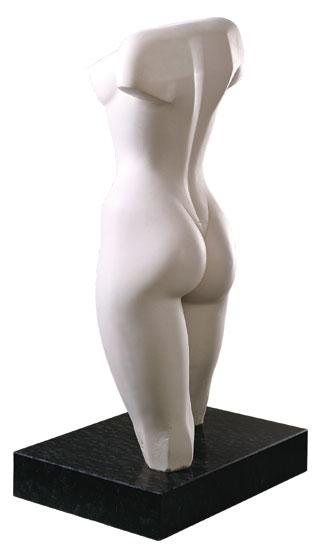 """Skulptur """"Weiblicher Torso"""", Version in Kunstmarmor"""