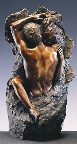 """Skulptur """"Liebespaar"""" (1982), Version in Kunstbronze"""