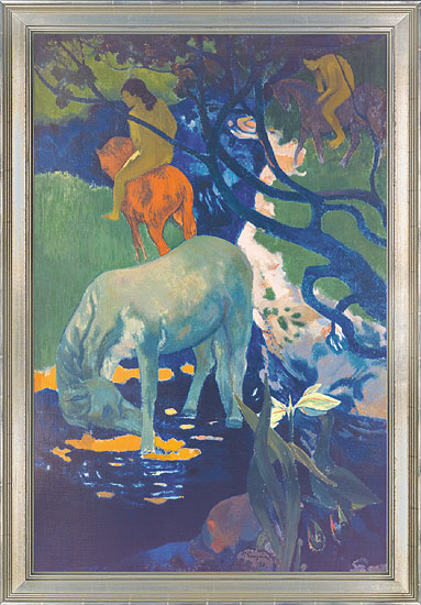 """Bild """"Das weiße Pferd"""" (1898), gerahmt"""