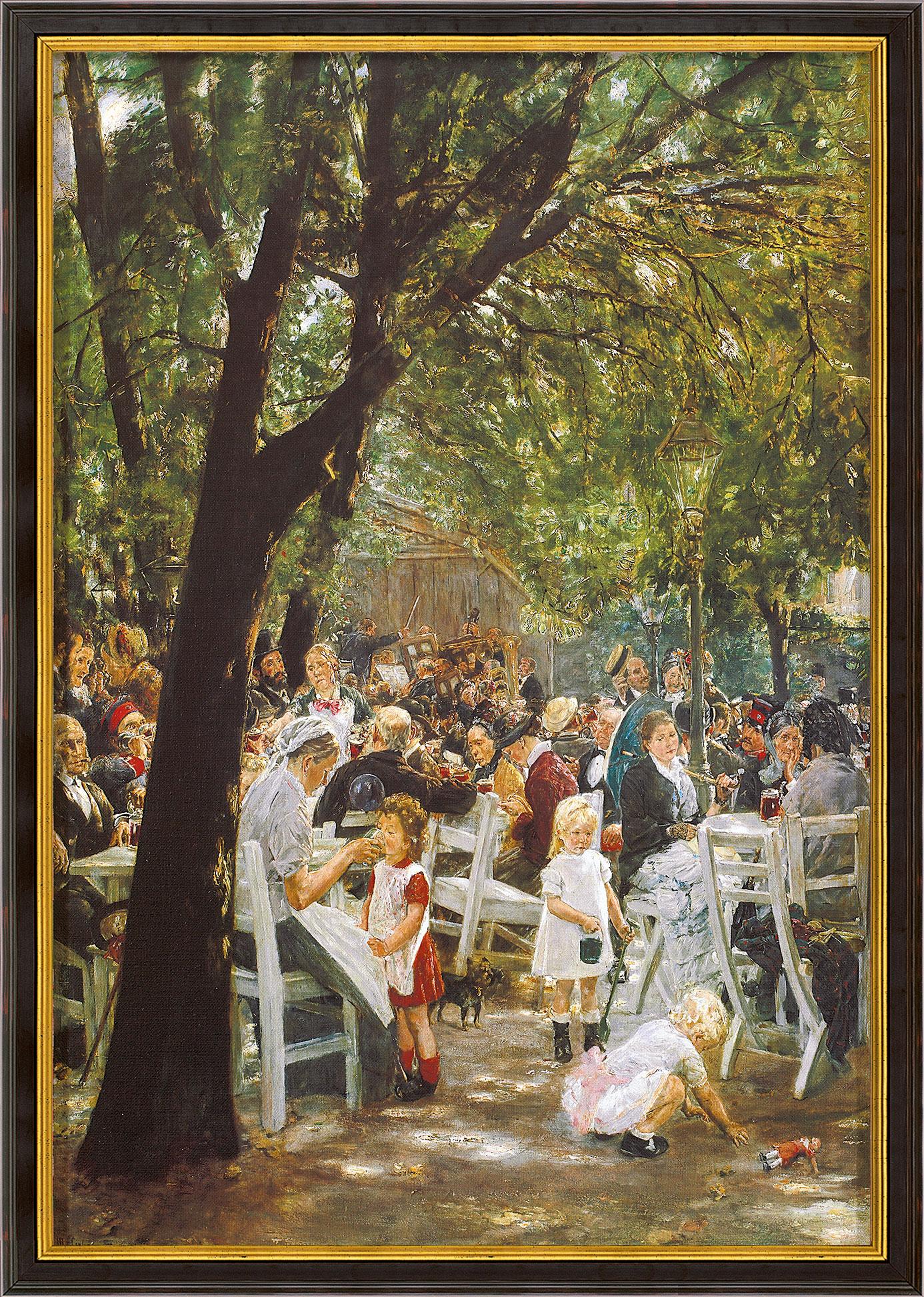 """Bild """"Münchner Biergarten"""" (1884), gerahmt"""