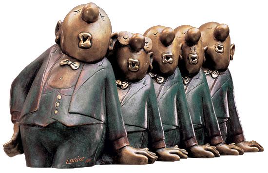 """Skulptur """"Comedian Harmonists"""", Version in Bronze"""