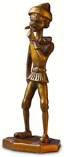 """Skulptur """"Pinocchio"""" (1999), Bronze"""