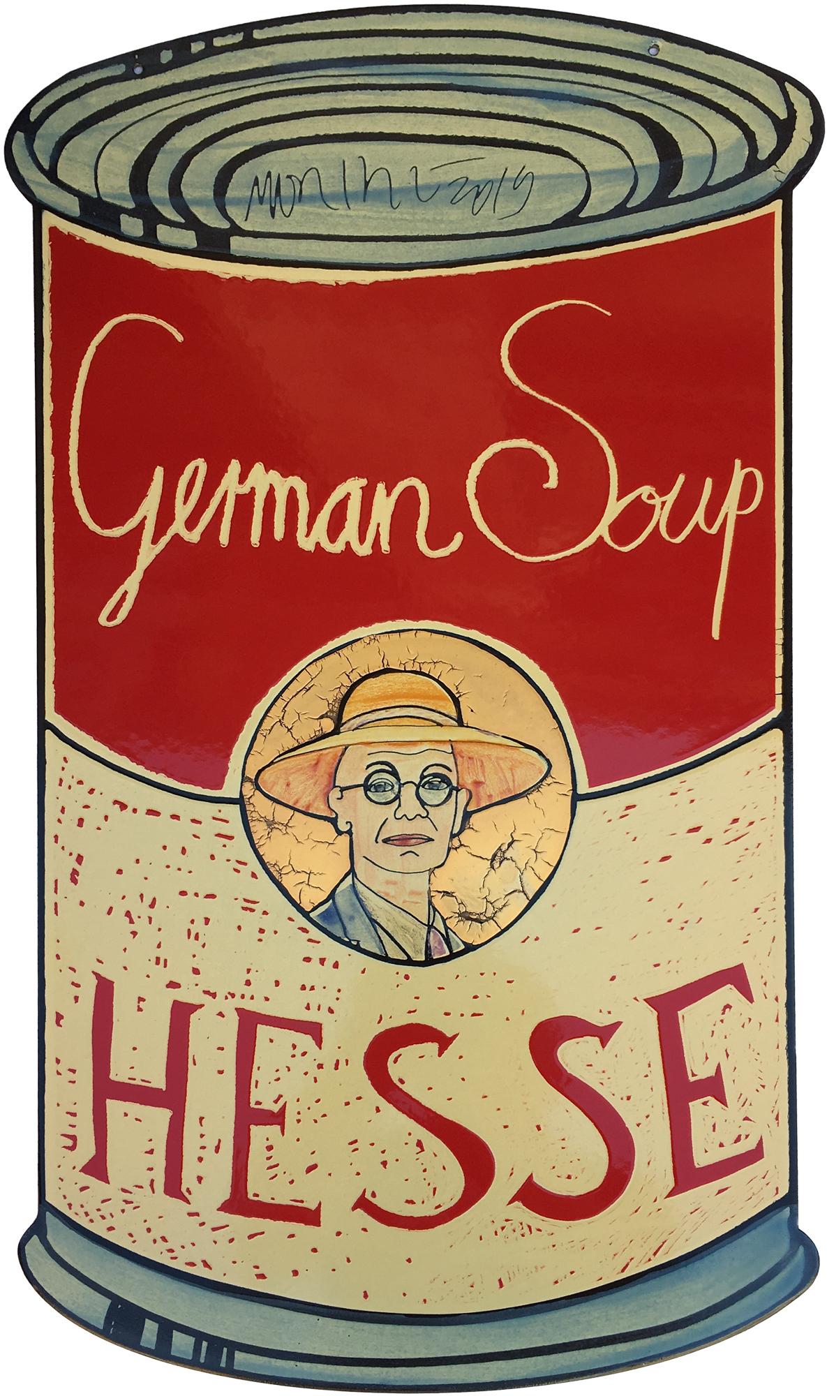 "Wandobjekt ""German Soup, Hesse"" (2019) (Unikat), Emaille"