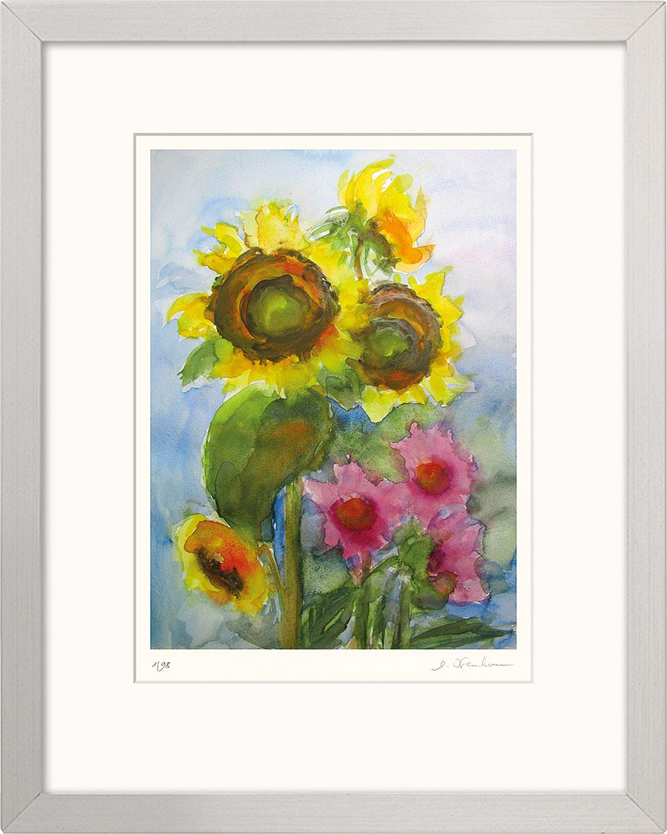 """Bild """"Sonnenblumen"""" (2020), gerahmt"""