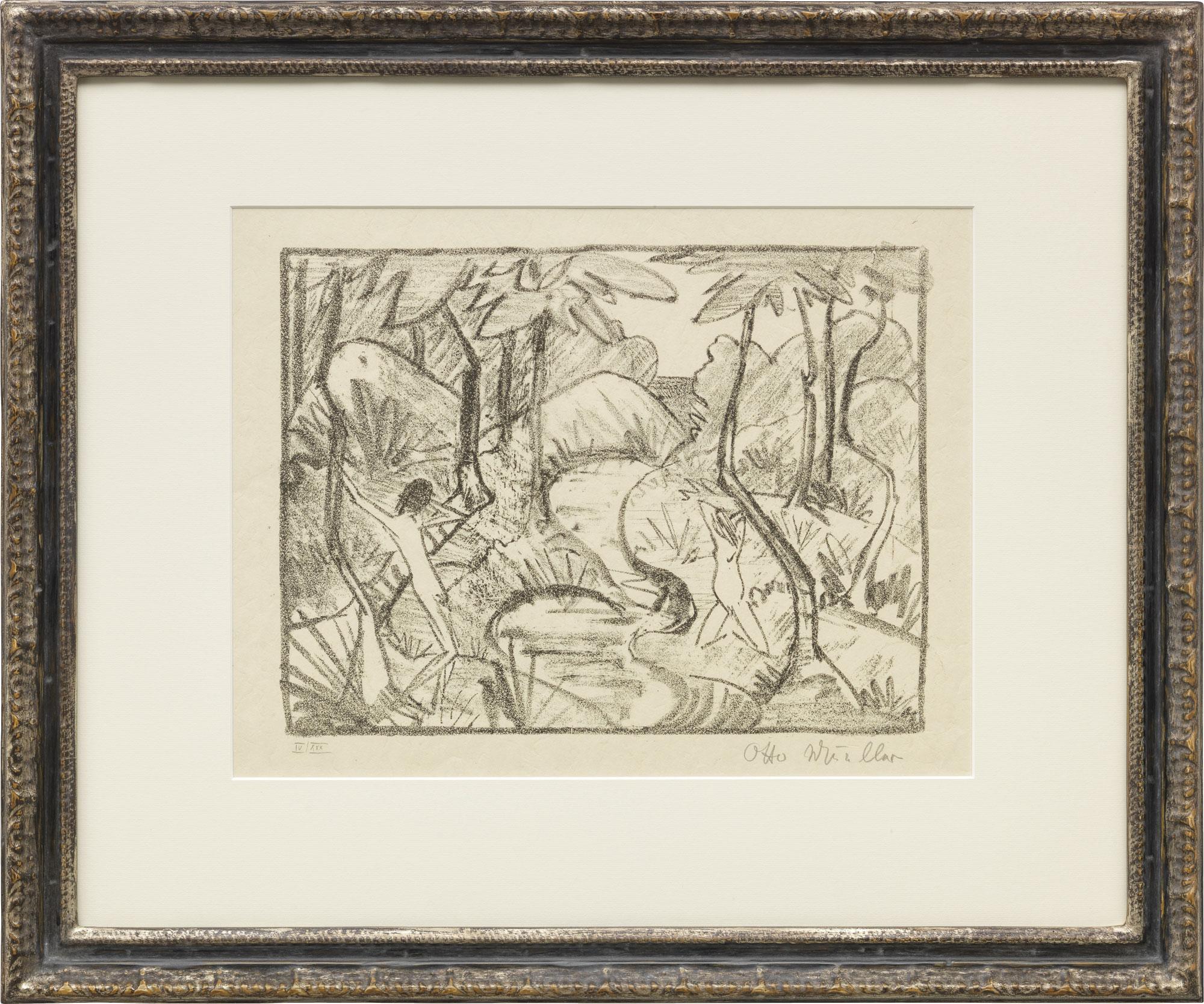 "Bild ""Zwei Figuren am Waldbach 2 (Waldlandschaft)"" (1921-22)"