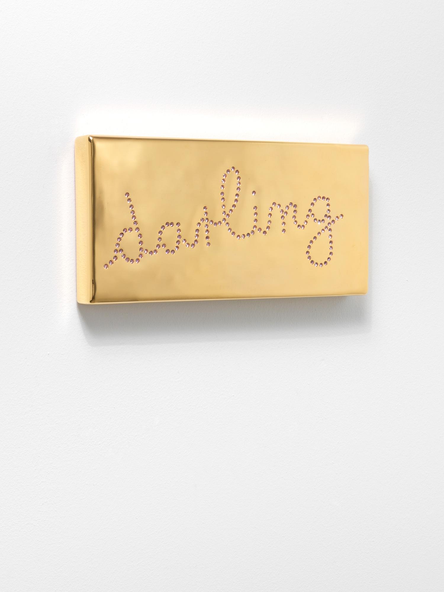 """Schriftzug-Objekt """"Darling 2"""" (2019) (Unikat)"""