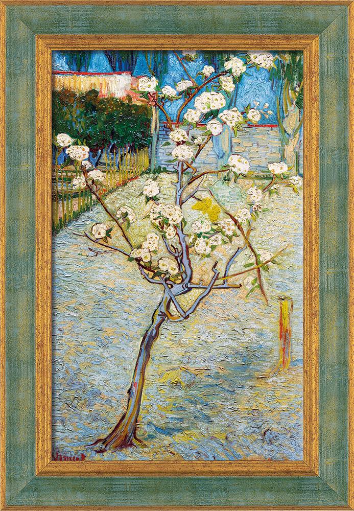 "Bild ""Blühender Birnbaum"" (1888), gerahmt"