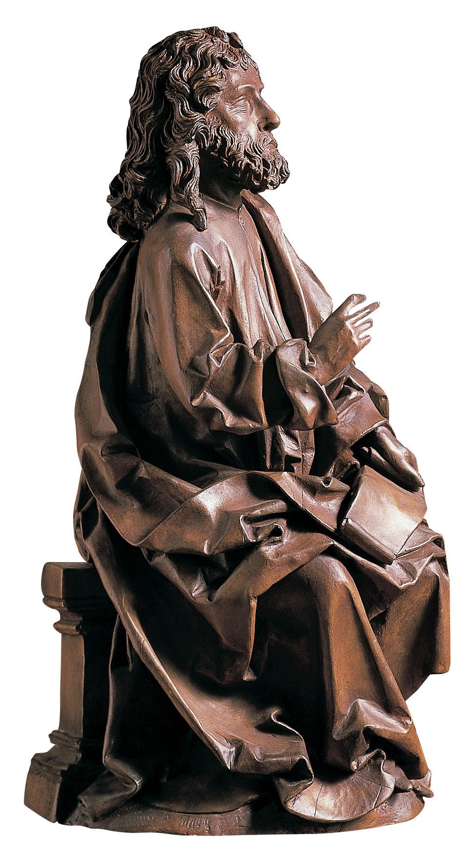 "Skulptur ""Evangelist Matthäus"", Kunstguss"