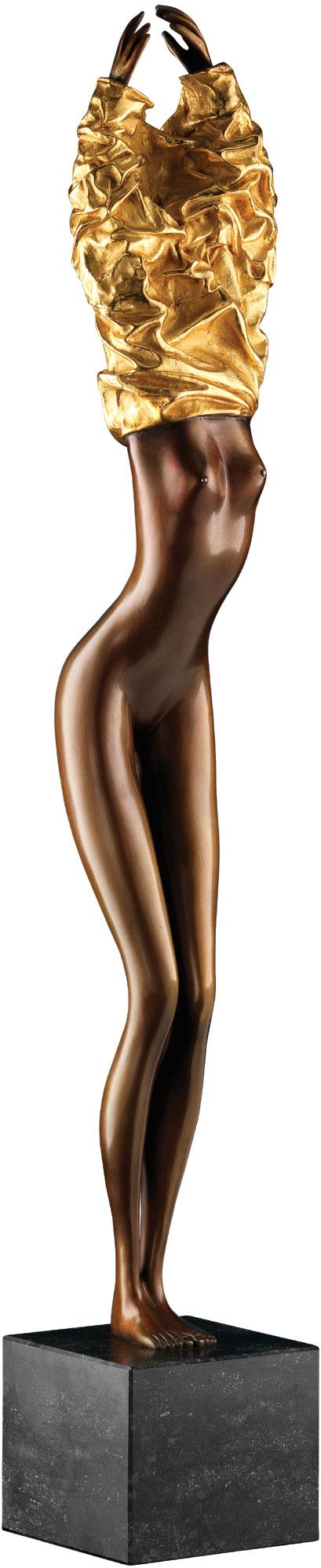 """Skulptur """"Eos II"""" (2013), Bronze teilvergoldet"""