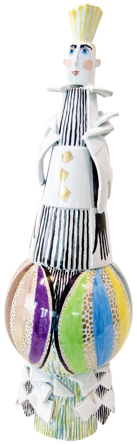 "Skulptur ""Ballonfahrt"" (2013) (Original / Unikat), Porzellan handbemalt"