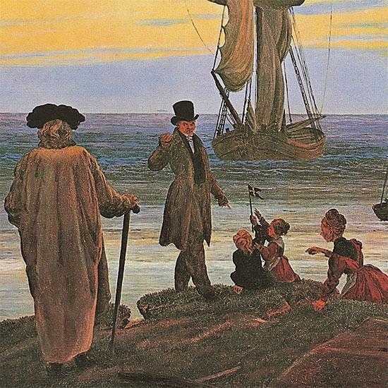 """Bild """"Die Lebensstufen"""" (1835), gerahmt"""