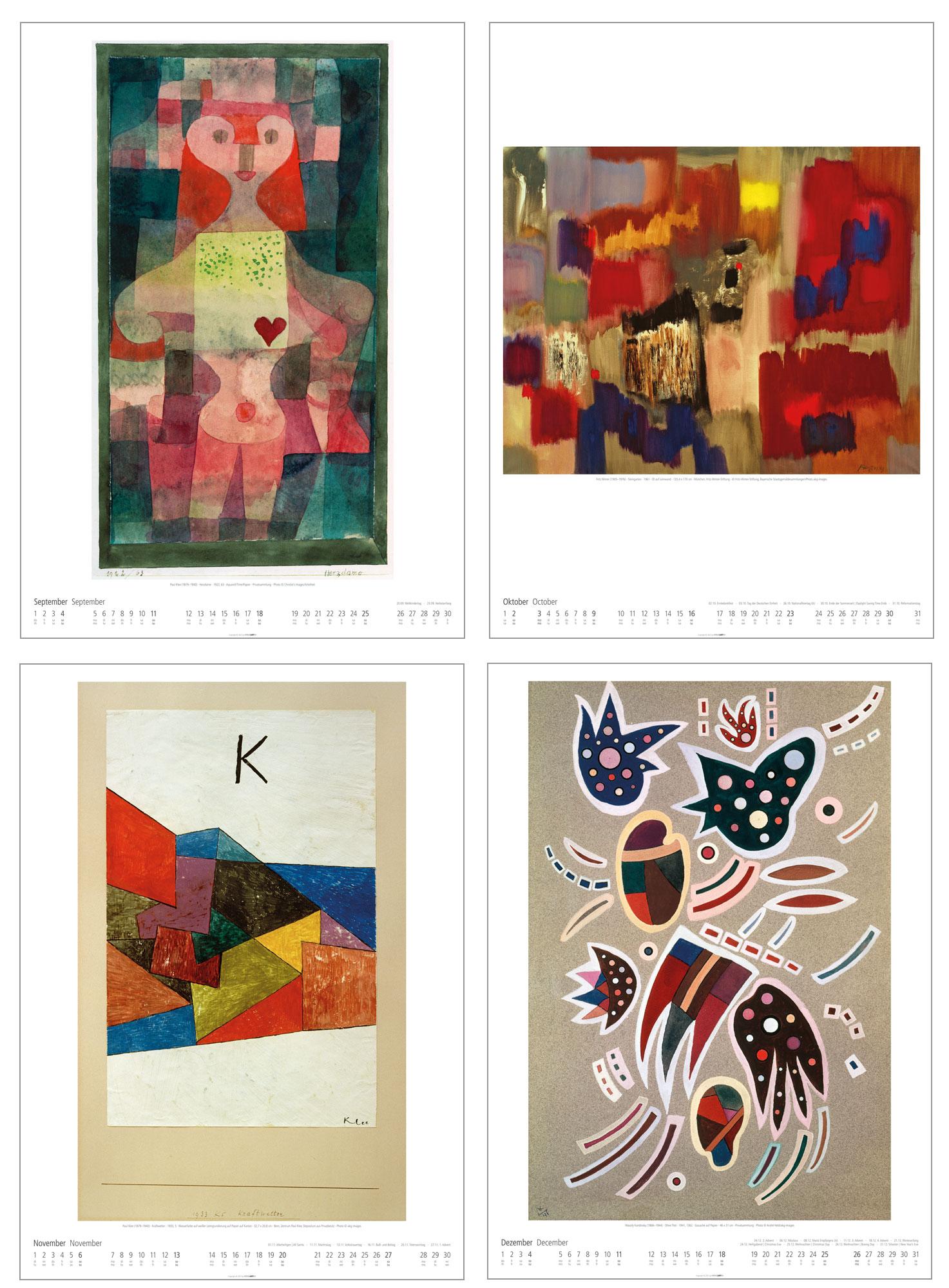 "Künstlerkalender ""Bauhaus"" 2022"