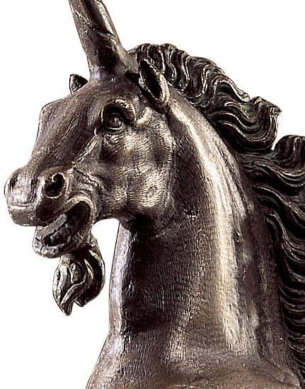 """Skulptur """"Springendes Einhorn"""", Version in Kunstbronze"""