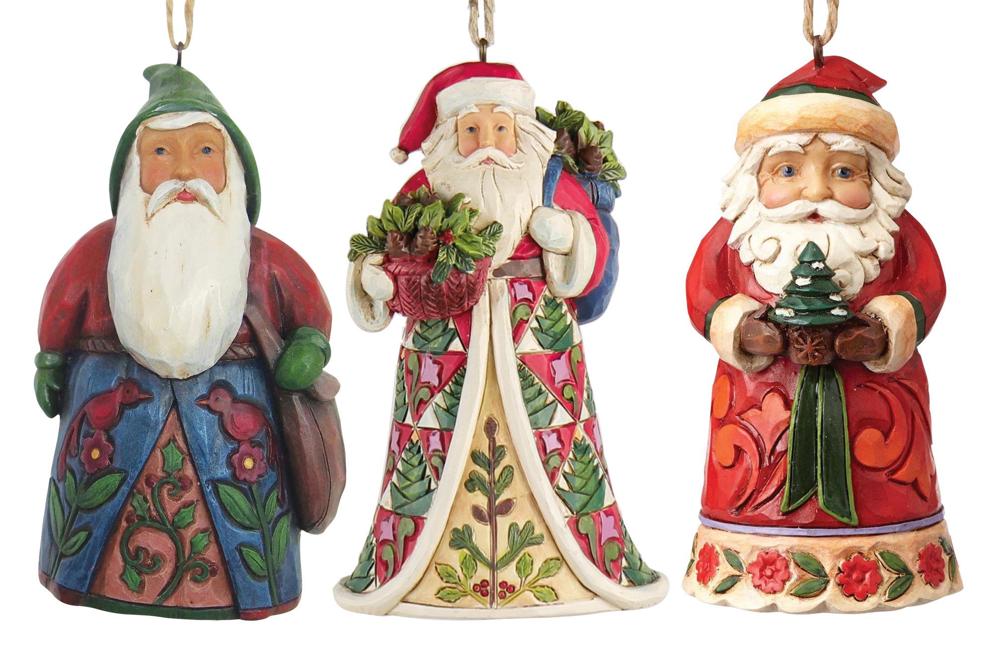 "Weihnachtsanhänger ""Santa"", 3er-Set"