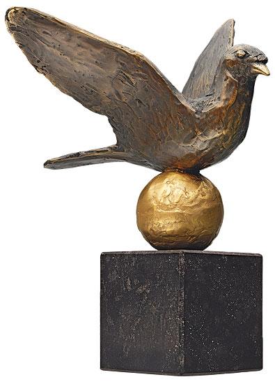 """Skulptur """"Friedenstaube"""", Bronze"""